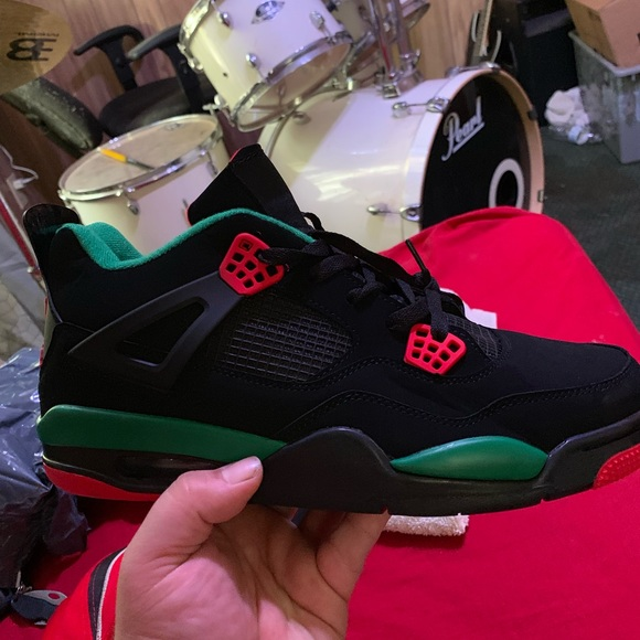 size 40 7c481 264c6 Jordan pizzeria 4s black red and green